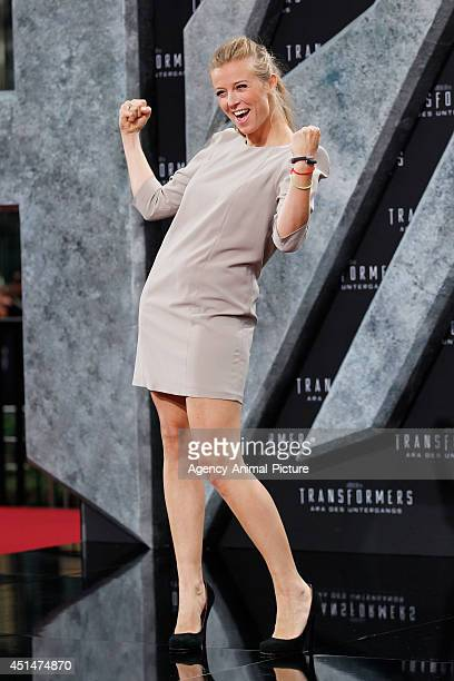 Nina Eichinger attends the 'Transformers Age of Extinction' Berlin Premiere on June 29 2014 in Berlin Germany