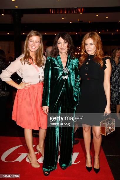Nina Eichinger Iris Berben and Palina Rojinski attend the First Steps Award 2017 at Hotel Zoo on September 18 2017 in Berlin Germany