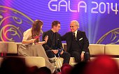 Nina Eichinger Philipp Lahm Jose Carreras during the 20th Annual Jose Carreras Gala on December 18 2014 in Rust Germany