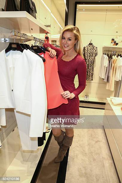 Nina Ensmann attends the Hugo Boss Store Event on April 25 2016 in Duesseldorf Germany