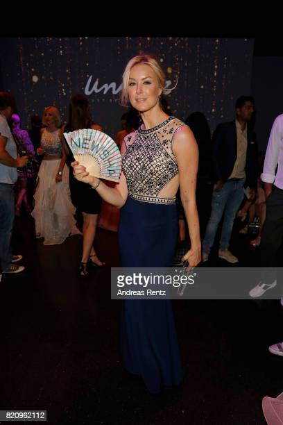 Nina Ensmann attends the Unique show during Platform Fashion July 2017 at Areal Boehler on July 22 2017 in Duesseldorf Germany