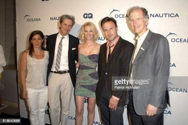 Nina Flood Peter Hunsinger January Jones David Arquette and Andrew Sharpless attend GQ World Oceans Day Party at Sunset Tower Hotel on June 8 2010 in...