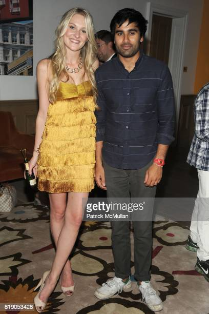 Nina Freudenberger and Neel Shah attend MOET CHANDON Private Screening of 'Sex the City 2' at Crosby Street Hotel on May 26 2010 in New York City