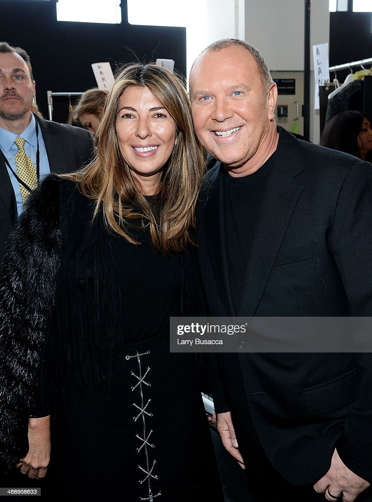 <a gi-track='captionPersonalityLinkClicked' href=/galleries/search?phrase=Nina+Garcia&family=editorial&specificpeople=592222 ng-click='$event.stopPropagation()'>Nina Garcia</a> (L) and designer <a gi-track='captionPersonalityLinkClicked' href=/galleries/search?phrase=Michael+Kors+-+Fashion+Designer&family=editorial&specificpeople=4289231 ng-click='$event.stopPropagation()'>Michael Kors</a> pose backstage at the <a gi-track='captionPersonalityLinkClicked' href=/galleries/search?phrase=Michael+Kors+-+Fashion+Designer&family=editorial&specificpeople=4289231 ng-click='$event.stopPropagation()'>Michael Kors</a> fashion show during Mercedes-Benz Fashion Week Fall 2014 at Spring Studios on February 12, 2014 in New York City.