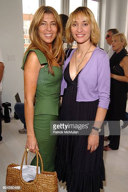 Nina Garcia and Isabel Dupre attend Gucci Cruise 2007 Fashion Show at The Penthouse at Milk Studios on June 14 2006 in New York City