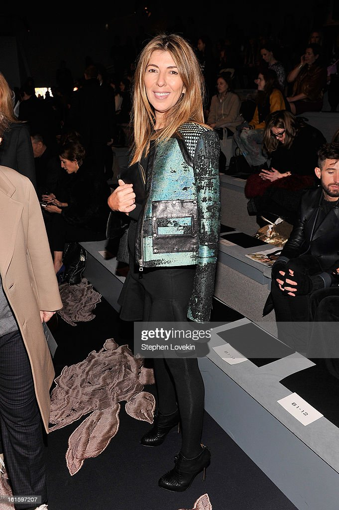 Nina Garcia attends the Vera Wang Fall 2013 fashion show during Mercedes-Benz Fashion Week at The Stage at Lincoln Center on February 12, 2013 in New York City.