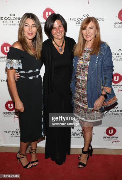 Nina Garcia Noelle Stevenson and designer Nicole Miller attend The Nicole Miller 2017 Spring Collection At The Underground Lauderdale Fashion Weekend...