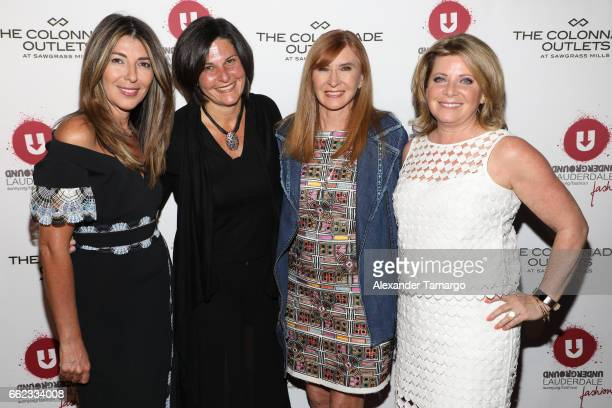 Nina Garcia Noelle Stevenson designer Nicole Miller and Stacy Ritter attend The Nicole Miller 2017 Spring Collection At The Underground Lauderdale...