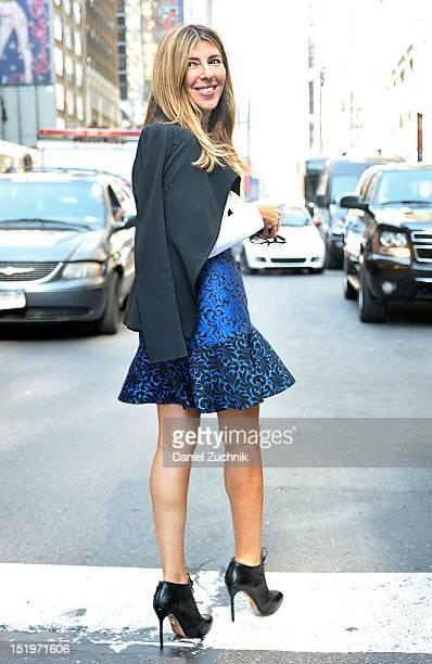 Nina Garcia seen outside the Calvin Klein show on September 13 2012 in New York City