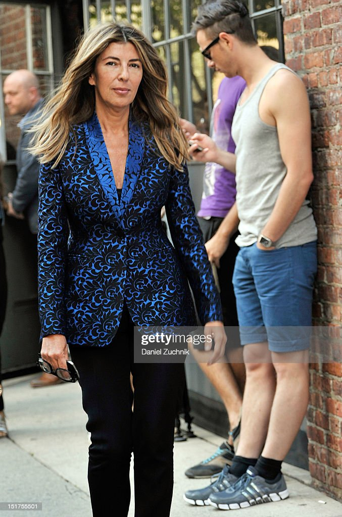 Nina Garcia seen outside the Donna Karen New York show on September 10, 2012 in New York City.