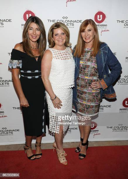 Nina Garcia Stacy Ritter and designer Nicole Miller attend The Nicole Miller 2017 Spring Collection At The Underground Lauderdale Fashion Weekend...
