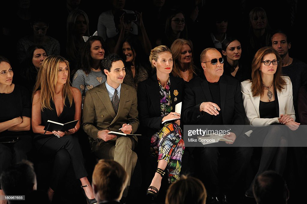 Nina Garcia, Zac Posen, Heidi Klum and designer Michael Kors attend the Project Runway Fall 2013 fashion show during Mercedes-Benz Fashion Week at The Theatre at Lincoln Center on February 8, 2013 in New York City.