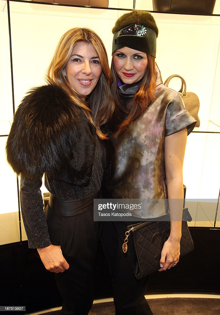 Nina Garica and Corri McFadden at the Marie Claire & Emporio Armani Event on November 7, 2013 in Chicago, Illinois.