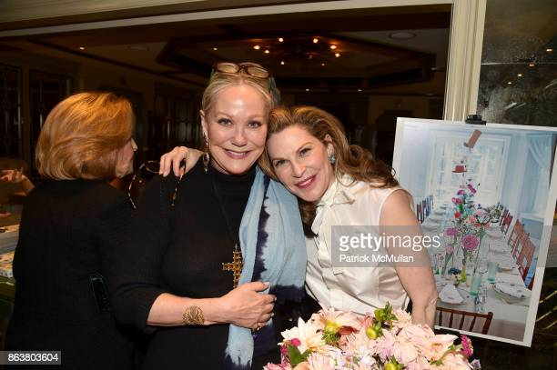 Nina Griscom and Cathy Graham attend the launch of Second Bloom Cathy Graham's Art of the Table hosted by Joanna Coles and Clinton Smith at Bergdorf...