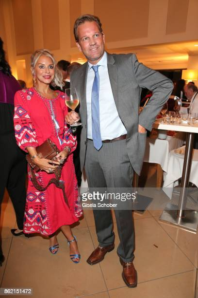 Nina Heyd jewelry designer of House of Capulet and Kai Boecking during the 2oth 'Busche Gala' at The Charles Hotel on October 16 2017 in Munich...