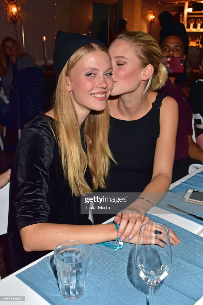 Nina Hnizdo and Kim Hnizdo attend the Amorelie Christmas Calender Launch Dinner on October 12, 2017 in Berlin, Germany.