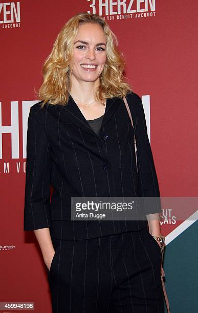 Nina Hoss attends the German premiere of the film '3 Coeurs' during the 14th French Film Week at Kino International on December 4 2014 in Berlin...
