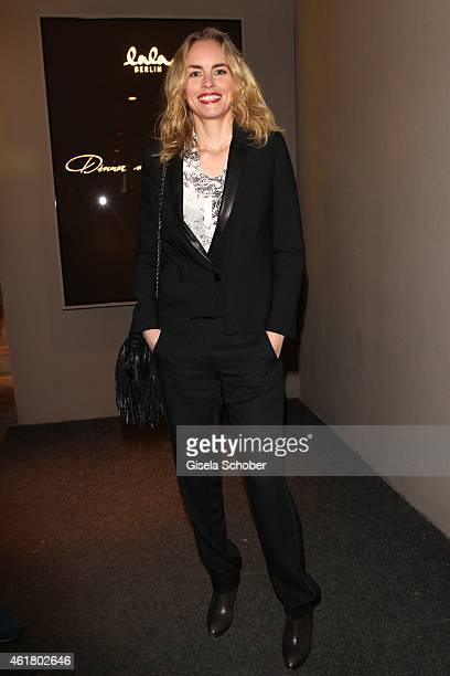 Nina Hoss attends the LaLa Berlin Dinner with Cinderella during the MercedesBenz Fashion Week Berlin Autumn/Winter 2015/16 at Crackers on January 19...