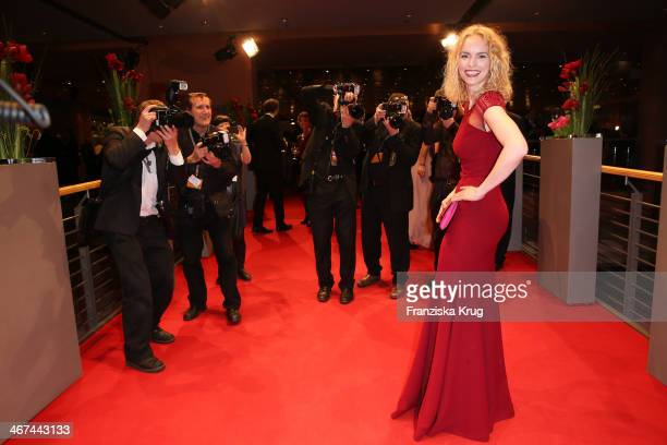 Nina Hoss attends the Opening Party 64th Berlinale International Film Festival at Berlinale Palast on February 06 2014 in Berlin Germany