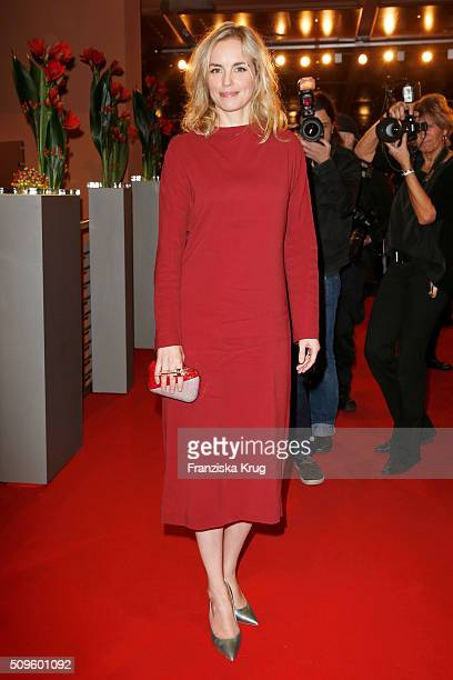 Nina Hoss attends the opening party of the 66th Berlinale International Film Festival Berlin at Berlinale Palace on February 11 2016 in Berlin Germany
