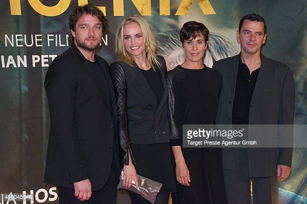 Nina Hoss Ronald Zehrfeld Christian Petzold and Nina Kunzendorf attend the 'Pheonix' premiere at Kino International on September 24 2014 in Berlin...