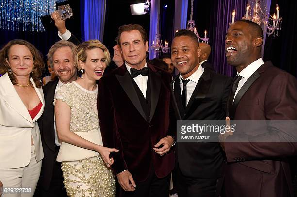 Nina Jacobson Scott Alexander Sarah Paulson John Travolta Cuba Gooding Jr and Sterling K Brown attend The 22nd Annual Critics' Choice Awards at...