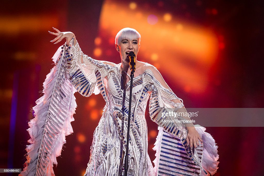 Nina Kraljic of Croatia performs the song 'Lighthouse' during the semifinals of the 2016 Eurovision Song Contest at Ericsson Globe Arena on May 10...