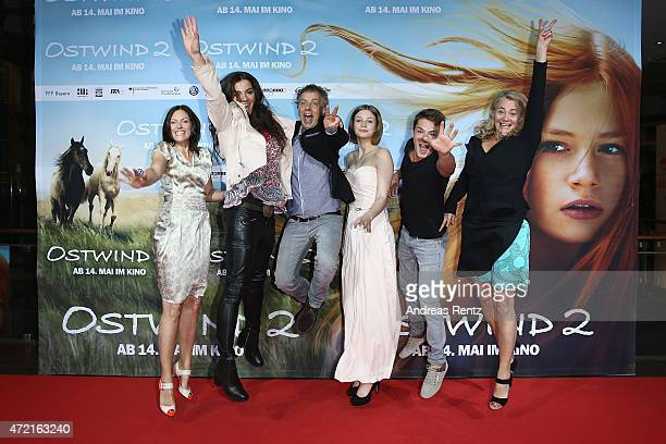 Nina Kronjaeger director Katja von Garnier producer Andreas UlmkeSmeaton Hanna Binke Marvin Linke and producer Ewa Karlstroem attend the Frankfurt...