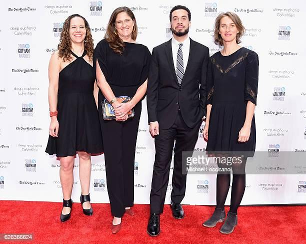 Nina Krstic Caroline Waterlow Ezra Edelman and Tamara Rosenberg attend the 26th Annual Gotham Independent Film Awards at Cipriani Wall Street on...