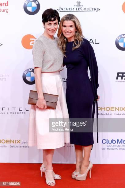 Nina Kunzendorf and Anke Engelke attend the Lola German Film Award red carpet at Messe Berlin on April 28 2017 in Berlin Germany