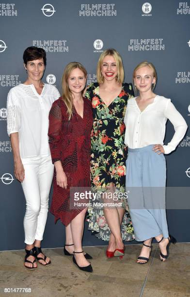 Nina Kunzendorf Julia Jentsch Johanna Ingelfinger and Elisa Schlott attend 'Das Verschwinden' Premiere during Munich Film Festival 2017 at HFF...