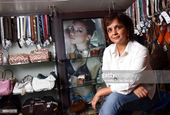 Nina Lekhi Founder Baggit Bags poses at outlet in Mumbai India Potrait Sitting