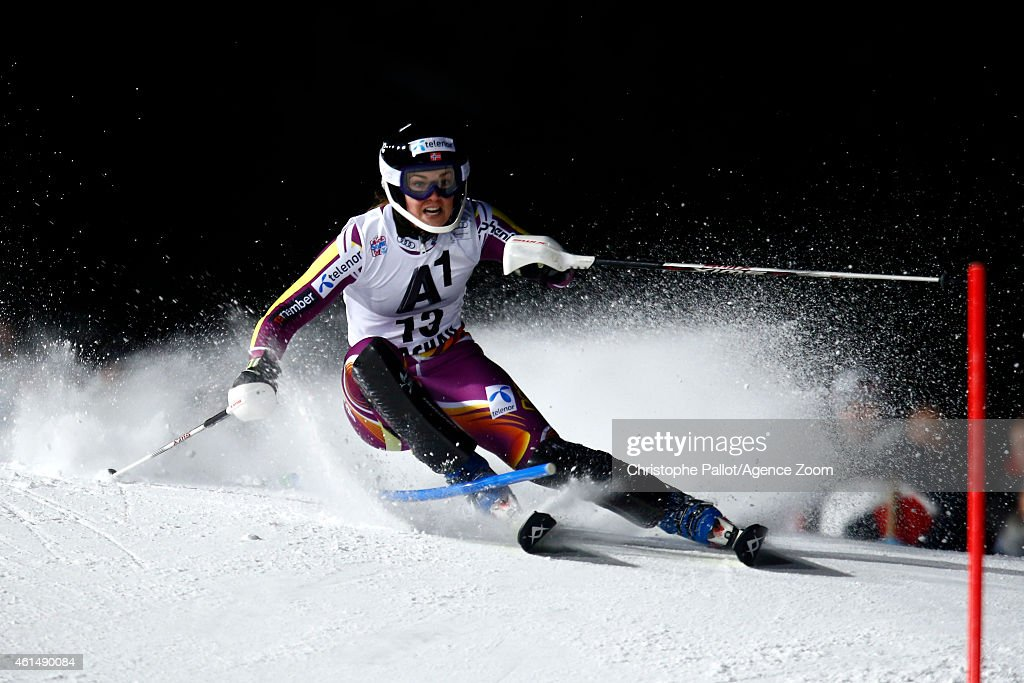 <a gi-track='captionPersonalityLinkClicked' href=/galleries/search?phrase=Nina+Loeseth&family=editorial&specificpeople=4157062 ng-click='$event.stopPropagation()'>Nina Loeseth</a> of Norway competes during the Audi FIS Alpine Ski World Cup Women's Slalom on January 13, 2015 in Flachau, Austria.