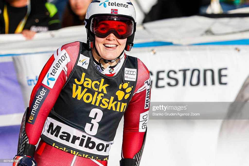 <a gi-track='captionPersonalityLinkClicked' href=/galleries/search?phrase=Nina+Loeseth&family=editorial&specificpeople=4157062 ng-click='$event.stopPropagation()'>Nina Loeseth</a> of Norway competes during the Audi FIS Alpine Ski World Cup Women's Giant Slalom on January 30, 2016 in Maribor, Slovenia.