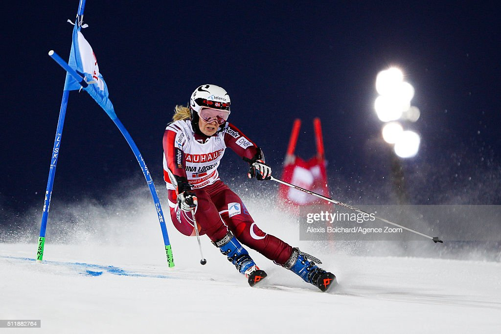 <a gi-track='captionPersonalityLinkClicked' href=/galleries/search?phrase=Nina+Loeseth&family=editorial&specificpeople=4157062 ng-click='$event.stopPropagation()'>Nina Loeseth</a> of Norway competes during the Audi FIS Alpine Ski World Cup Men's and Women's City Event on February 23, 2016 in Stockholm, Sweden.