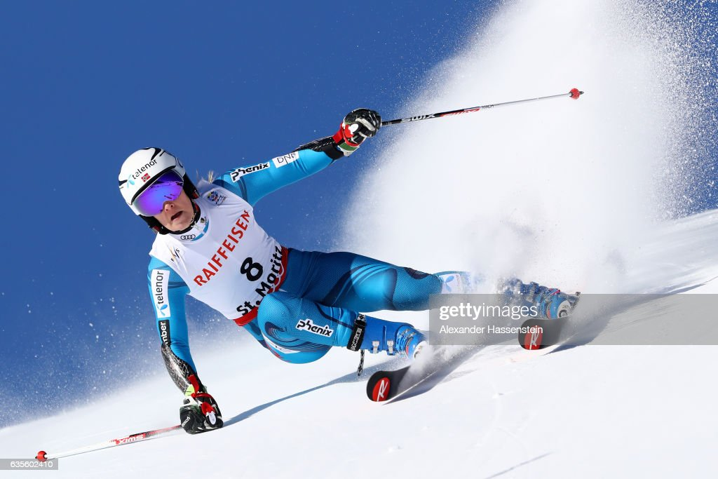 Nina Loeseth of Norway competes in the Women's Giant Slalom during the FIS Alpine World Ski Championships on February 16, 2017 in St Moritz, Switzerland.
