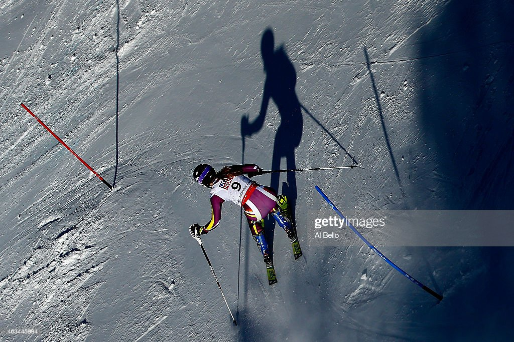Nina Loeseth of Norway races during the Ladies' Slalom on the Golden Eagle racecourse on Day 13 of the 2015 FIS Alpine World Ski Championships on February 14, 2015 in Beaver Creek, Colorado.