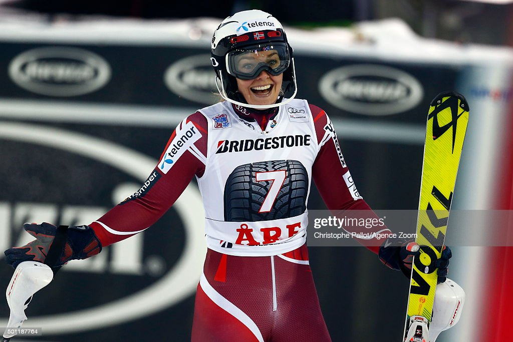 <a gi-track='captionPersonalityLinkClicked' href=/galleries/search?phrase=Nina+Loeseth&family=editorial&specificpeople=4157062 ng-click='$event.stopPropagation()'>Nina Loeseth</a> of Norway takes 3rd place during the Audi FIS Alpine Ski World Cup Women's Slalom on December 13, 2015 in Are, Sweden.