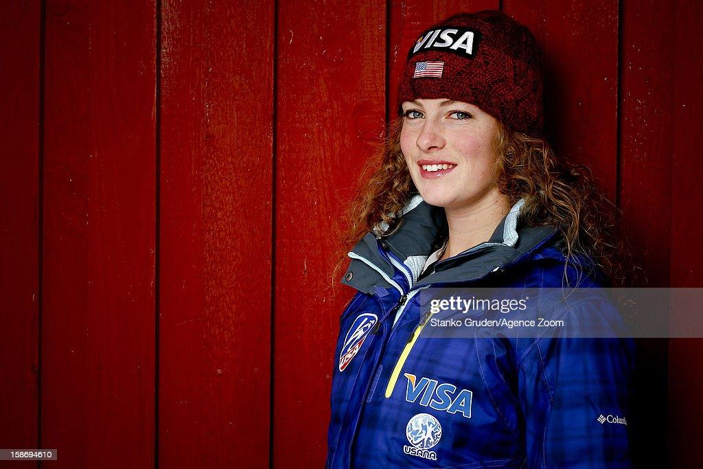 Nina Lussi of the USA Women's Ski Jumping Team poses on December 15, 2012 in Ramsau, Austria.