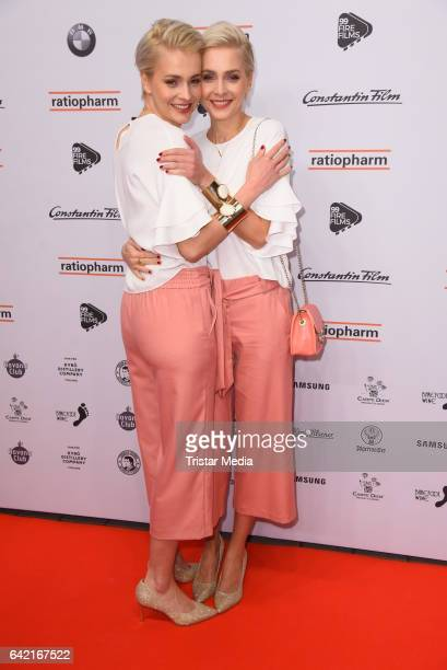 Nina Meise and Julia Meise attend the 99FireFilmsAward at Admiralspalast on February 16 2017 in Berlin Germany