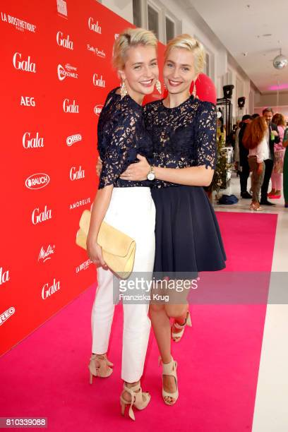 Nina Meise and Julia Meise attend the Gala Fashion Brunch during the MercedesBenz Fashion Week Berlin Spring/Summer 2018 at Ellington Hotel on July 7...