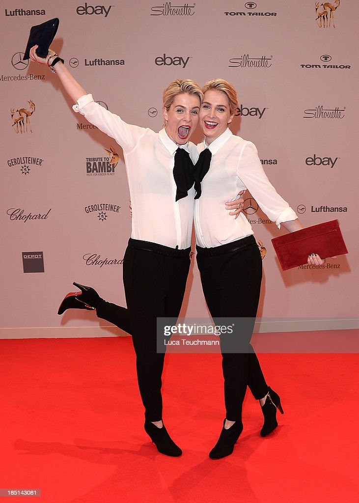 Nina Meise and Julia Meise attend the Tribute To Bambi at Station on October 17, 2013 in Berlin, Germany.