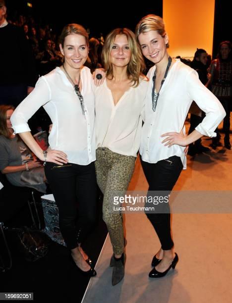 Nina Meise Kim Fischer and Julia Meiseattends Miranda Konstantinidou Autumn/Winter 2013/14 fashion show during MercedesBenz Fashion Week Berlin at...