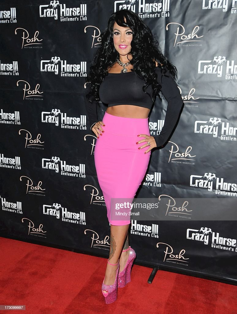 Nina Mercedez arrives at the Crazy Horse III Gentleman's Club on July 6, 2013 in Las Vegas, Nevada.