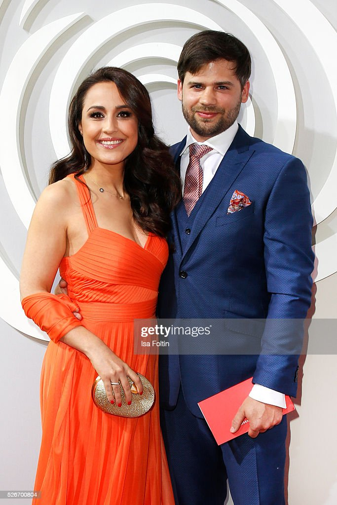 Nina Moghaddam and her husband Doninik attend the Rosenball 2016 on April 30, 2016 in Berlin, Germany.