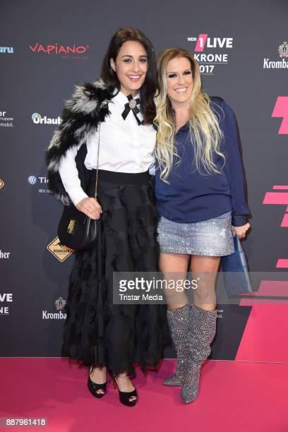 Nina Moghaddam and Natalie Horler attend the 1Live Krone radio award at Jahrhunderthalle on December 7 2017 in Bochum Germany