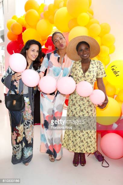 Nina Moghaddam Annabelle Mandeng and Nikeata Thompson attend the Gala Fashion Brunch during the MercedesBenz Fashion Week Berlin Spring/Summer 2018...