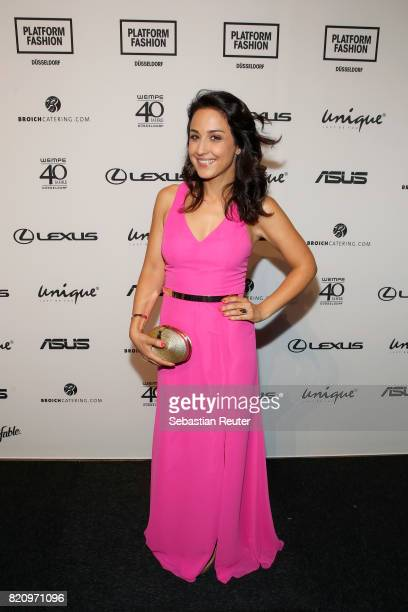 Nina Moghaddam attends the Unique show during Platform Fashion July 2017 at Areal Boehler on July 22 2017 in Duesseldorf Germany