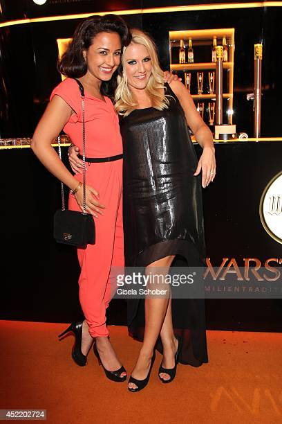 Nina Moghaddam Natalie Horler attend the CHIO 2014 media night on July 15 2014 in Aachen Germany