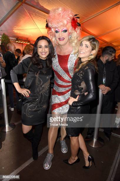 Nina Moghaddam Olivia Jones and Panagiota Petridou attend the German Comedy Awards at Studio in Koeln Muehlheim on October 24 2017 in Cologne Germany